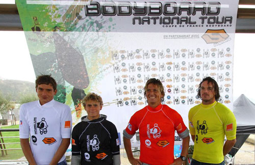 Podium final open bodyboard national tour 2012